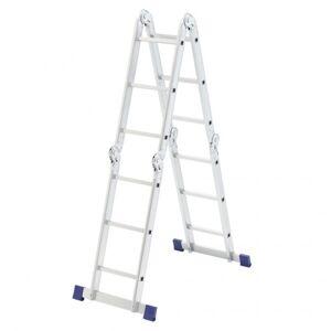 Производитель не указан Лестница шарнирная алюминиевая, 4х3, Россия// Сибртех (рабочая высота 3.9 м)