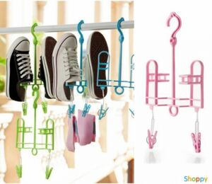 Вешалка для сушки обуви с прищепками ROZE