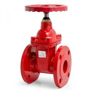 Производитель не указан Задвижка чугунная фланцевая 30ч39р (Г)  аналог МЗВГ с обрезин. клином Д  80 красная  (до 150 С°)