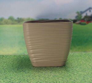 Кашпо Sahara petit квадрат. с прикреп. подд. d13; h11,8 см; 1,3л кофе (cafe latte)