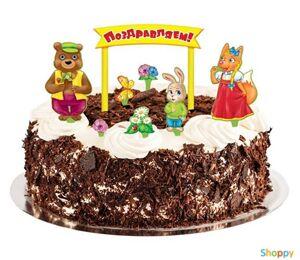 Украшения торта Поздравляем
