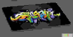 PerseiLine Матрас Дизайн №2 70*45*6 Граффити