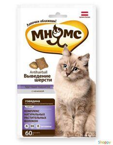 Мнямс Хрустящие подушечки для кошек с Говядиной 60гр