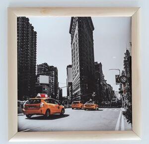Постер в раме Такси, размер 350*350 ПР-023
