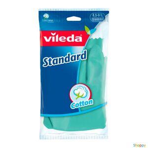 Перчатки латекс. с хлопковым напылением Стандарт L (Vileda), Германия (12пар/кор)