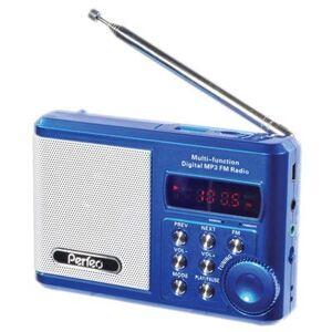 Радиоприемник Perfeo мини-аудио Sound Ranger, FM MP3 USB microSD In/Out ридер, BL-5C 1000mAh синий
