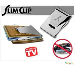 Зажим для денег металлический Slim Clip
