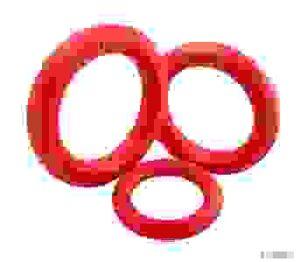 Doglike Кольцо 8 граней Tug&Twist. Размер: Среднее 46 мм