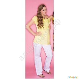 Рубашка с коротким рукавом лимонная для беременных. Размеры: 42