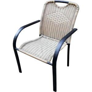Стул к набору Кафе 4 (каркас черный, сиденье светло-коричневое) м.н. 120кг