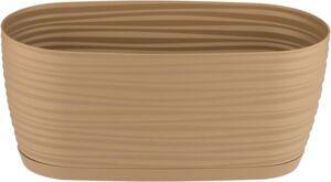 Кашпо овальное Sahara petit с прикреп. подд. d27*13; h11,85 см; 2,65л кофе (cafe latte)