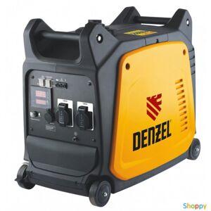 Denzel Генератор инверторный GT-3500i, X-Pro 3,5 кВт, 220В,цифровое табло, бак 7,5 л, ручной старт// Denzel