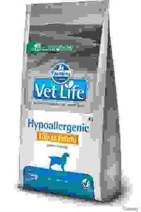 Vet Life Dog Hypoallergenic Fish & Potato - Диета для Собак, страдающих Пищевой Аллергией и/или Непереносимостью, Рыба с Картошкой. Вес: 2 кг