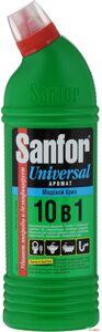 Средство для чистки и дезинфекции Sanfor Universal, 10 в 1, морской бриз, 1 литр (10шт./кор)