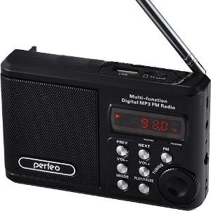Радиоприемник Perfeo мини-аудио Sound Ranger, FM MP3 USB microSD In/Out ридер, BL-5C 1000mAh черный