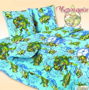 Детское белье Черепашки в дет. кровать