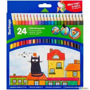 Карандаши цвет. набор 24цв.Жил-был кот трехгран., Berlingo 1/120 (р279650)