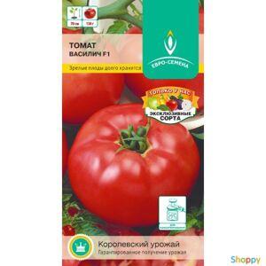 Семена Томат Василич F1 10 шт, раннеспел, дет-до 70 см, плод плоскоокругл, красные до 130 ЕвроСемена