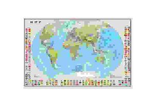 Карта Мир политическая масштаб 1:25 млн. ДИ ЭМ БИ