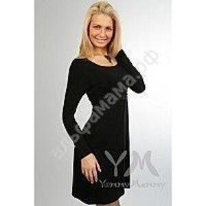 Платье со стразами с длинным рукавом на запах.