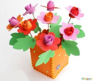 Набор сделай сам цветы в горшке Розы
