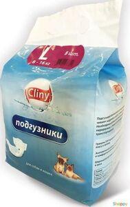 Cliny Подгузники L для животных массой 8-16 кг (8шт/уп)