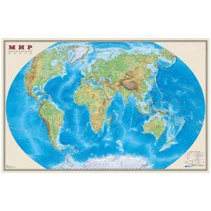 Карта Мир физическая DMB, 1:25млн., 1220*790мм