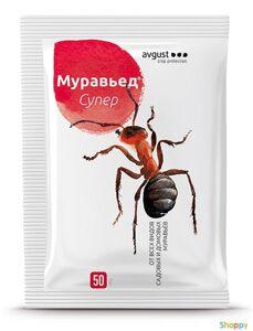 Муравьед  супер 50 г. Новый препарат в гранулах от всех видов садовых и домовых рыжих муравьев.