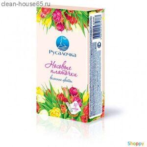 Русалочка.Платочки носовые аромат. Весенние цветы 6*10шт (спайка 6шт), шт