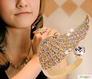 Кольцо Крыло Ангела Gold