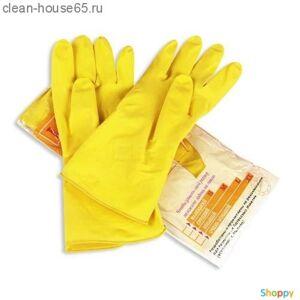PRO HOUSE.Перчатки хозяйственные премиум класс с хлопковым напылением р-р XL, шт