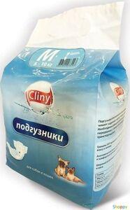 Cliny Подгузники M для животных массой 5-10 кг (9шт/уп)