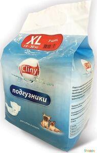 Cliny Подгузники XL для животных массой 15-30 кг (7шт/уп)