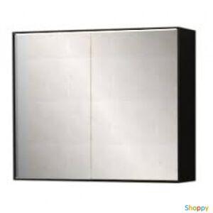 """Производитель не указан Зеркало-шкаф купе  """"Квадро new"""" 60см, черный, светодиод, розетка, выкл. (код 27586)"""