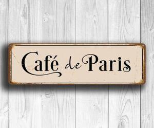 Табличка интерьернаяCafe de Paris