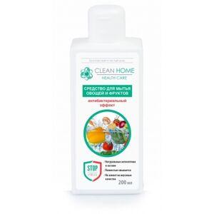 Clean Home Средство для мытья овощей и фруктов Антибактериальный эффект 200мл (12шт/кор)
