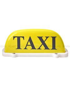 Шашечка такси 12v на магните желтая 2494