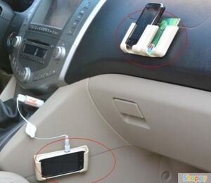 Подставка под телефон на панель авто (бежевая)