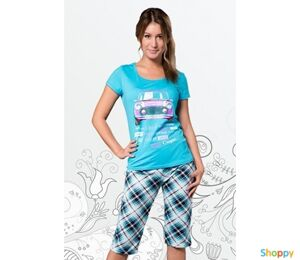 Пижама Машинка с бриджами