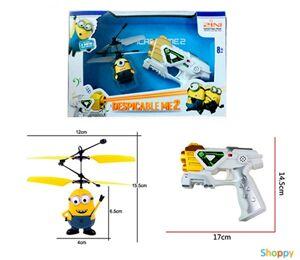 Летающая игрушка Миньон пульт-бластер