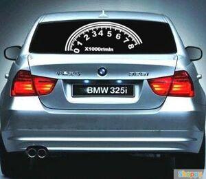 Эквалайзер на стекло авто Скорость WHITE
