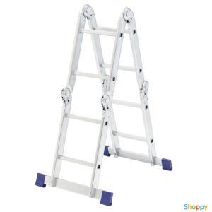 Производитель не указан Лестница шарнирная алюминиевая, 4х2, Россия// Сибртех (рабочая высота 2.9 м)