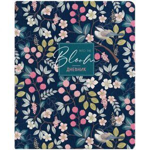 Дневник 1-11 кл. 48л. (лайт) ArtSpace Bloom, иск. кожа, ляссе, печать