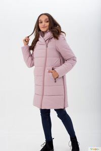 Куртка-слингопальто 3 в 1 светло-сиреневая для беременных и слингоношения, зима