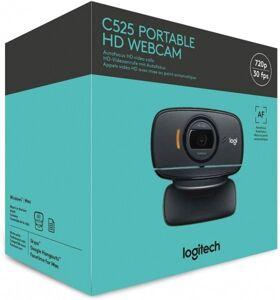 Веб-камера Logitech Webcam C525 HD {HD 720P, складная, повортная, шнур 1,5м, USB, черная}