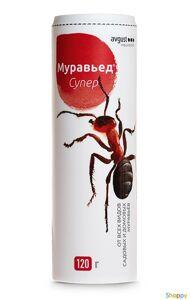 Муравьед  супер 120 г.  Новый препарат в гранулах от всех видов садовых и домовых рыжих муравьев.