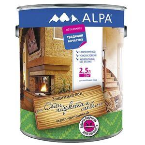 Лак акрил-уретановый для стен, паркета и мебели Альпа глянцевый 2,5л