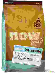 """NOW Fresh Fish Recipe - беззерновой корм для Кошек """"Рыбный рецепт"""": Форель, Лосось и Овощи. Вес: 1,82 кг"""