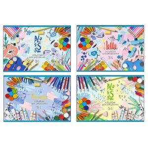 Альбом для рисования 24л, А4, на скрепке BG Пастельные рисунки, эконом
