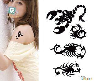 Временное Flash Tattoo Скорпион